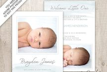 Baby & Birth Announcement Cards / Beautiful layered Adobe Photoshop templates to create your own personalized announcement card. These templates can be found in my Etsy shop www.etsy.com/shop/dutchladydigidesign