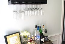 Organized Bar Spaces / Whether your bar is tiny or spacious--solutions for your cocktails