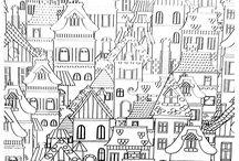 Рисованные домики