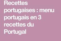 Recettes Portugaises