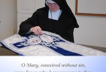 Blessed Virgin Mary / Join the Sisters as we honor Our Heavenly Mother by daily praying the Rosary and offering her short prayers.