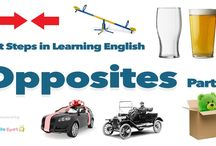 Opposites Vocabulary / Learn opposite words in English for young learners and English learners. Simple learning opposites vocabulary. Interactive English words and opposites video with pictures. Build up word recognition and vocabulary through repetition increasing memory and recall. Easy educational antonym words and phonetics.   Spoken and pronounced in British English by qualified ESL & TEFL / EFL / ESL  teacher James Roberts.
