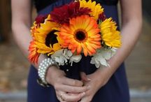 Brightly Coloured Wedding Flowers