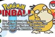 Pokemon Pinball / A couple of official artworks from Pokemon Pinball for Game Boy Colour including Meowth and Poliwag being hit by Pinballs and more. More info on this title @ http://www.pokemondungeon.com/pokemon-pinball