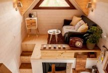 Tiny House Living and Dining Rooms