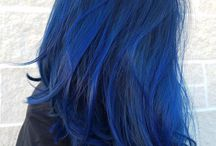 True blue hair