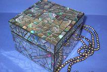 mosaico com CDs