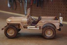autos de madera