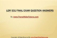 LDR 531 Final Exam Latest Online HomeWork Help