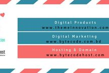 What Does ByteCode Do? / ByteCode Provides:    01:Digital Products:   https://themeinnovation.com/  02: Digital Marketing:   https://bytecode.com.bd/ 03: Hosting & Domain: http://bytecodehost.com/