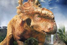 """Carteles Caminando entre Dinosaurios / carteles finales de los personajes del film """"Caminando entre Dinosaurios"""""""