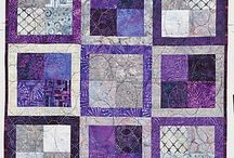 Quilts by Color: Purple and Gray