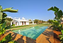 Villas with Pools in Puglia: Bellatrix Villa /  Located in Marina di Mancaversa just 2km from the nearest beach access point if one of our newly constructed villas with pools in Puglia, Bellatrix Villa. Set within a spacious garden with a large lawn, a pool with a furnished pool area, and a children's play area, this holiday home great for those who enjoy spending their time outdoors.  Decorated in cool, light colors and with accommodations for up to 8 guests, there are 3 bedrooms and 2 bathrooms.