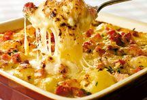 Krumplis husos ételek