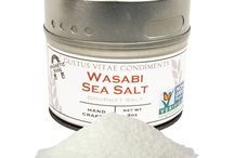 Wasabi Sea Salt Inspiration / Designed to bring the tang to each and every plate. Combined with heat, this salt is not a force to be reckoned with.