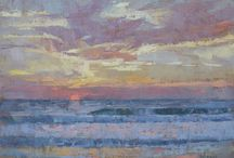 Seascapes / Paintings of seascapes and beaches.