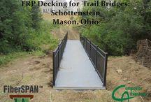 Mason, Ohio / Composite Advantage installed a FiberSPAN trail bridge in Mason, Ohio.