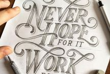 Hand Lettering \ Typography