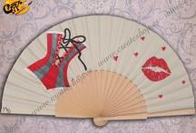 Abanicos Pintados a mano. Temática Vintage, Pin up, Burlesque, etc...  / Esto son ejemplos de trabajos ya realizados, puedes darnos tu idea y crear el tuyo. info@createshop.es Facebook http://ito.mx/1qMph Blog  http://createmas.blogspot.com.es/ Tienda OnLine www.createshop.es