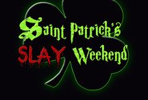 Saint Patrick's Slay Weekend Show MARCH / The Irish hold the legend of Saint Patrick, whose story is a common one, and the witches know it well. They waited until the veil between the world of humans and the world of faeries was stretched thin and Shannon MacKenna rose to power in the Dark Hour coven. She called upon the Leprechaun and the Fomorian giants, the trolls, faeries, and goblins. She demanded that they go out and hunt men, using them in rituals as she makes mockery of the holiday.