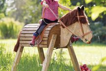 trä häst
