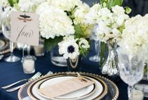 Navy + Green + Ivory Wedding