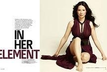 劉玉玲 ~ Lucy Liu / 美國华裔女演員。目前在一部以福爾摩斯为主题的美国电视剧劇《基本演繹法》中擔任女主角瓊·華生(Joan Watson)。华人能在好莱坞创出成功的事业非常不容易。在美国,她是一位公认的美人。但她投入影坛前,她在密芝根大學取得学士学位,真的是才貌并存。