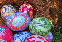 Primordial and artistic Easter eggs decorating model – silk fetter dyed eggs