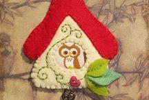 creazioni natalizie con feltro