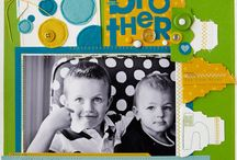 Scrapbook Sewing / Using your sewing machine for decorative elements on scrapbook pages