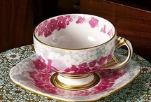 Cups dishes tea