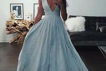 Vestidos azul gris