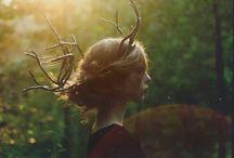 [写真][N] Forest + Girl / Photography > Nature > Forest + Girl