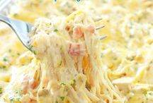 Creamy cheesy chicken spaghetti