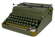 Typewriters / I'm obsessed! I'm writing letters on my Hermes 2000. I'm setting tab stops and making tables of German conjugations! I'm making lists of climbs! LOL.