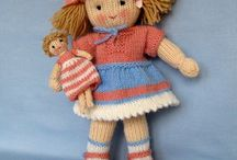 Knitted dolls/toys