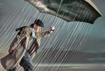 Arte com guarda-chuva