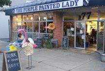 The Purple Painted Lady @ 77 West Main Street Macedon NY 14502 / Here is an open invitation to come and visit me at my shop.  If you are traveling a distance from far away - always call me ahead of time- because I want to make sure I get to meet you! / by The Purple Painted Lady ~ Tricia Kuntz
