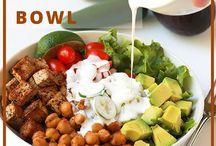 Dinner Salad Bowls & Dressings