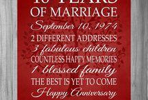 40th wedding anniversary