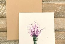 Painted greeting cards