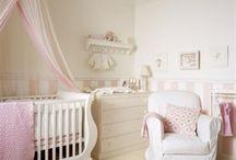 Baby Nursery Ideas / A style board for newborn baby nursery or bedrooms.