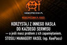Bezpieczny Tydzień z Niebezpiecznik.pl / Zapraszamy do śledzenia naszej wspólnej akcji z Niebezpiecznik.pl! Codziennie kolejne porady dotyczące bezpieczeństwa danych i sieci.