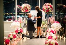 "Pink & White NYC Glam / The Heart Bandits helps Mike ""Go the distance"" with this stunning proposal / by The Heart Bandits"