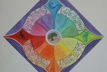 Personal Compass Mandalas / these are personal mandalas created based on a short interview with each client, based on nature elements, power animals and the compass points . . . to learn more visit http://creativespirals.com/mandalas/