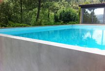 Piscinas / Pools by Cement Design / Piscinas desarrolladas por Cement Design con su agregado Aqua / Pools developed by Cement design with Aqua additive.