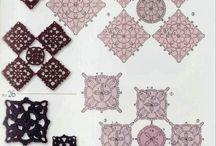 Horgolt blokkok / 3szögek, 4zetek, 5szögek és társaik