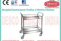 Instrument Trolley manufacturers in India / We present an unique range of Hospital Utility Trolleys & Carts in India such as Instrument Trolley, Two Sheleve Instrument Trolley, Three Sheleve Instrument Trolley and many more. These can be acquired at cost effective price from us.