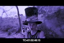 Acid eating scene on the hill / VFX refrences for  night sky, stars, madhatter shot, convert day to night enhance hat, lipstick, eyes ( tripped out)