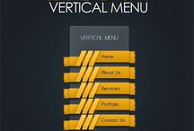 Free PSD Vertical Menu With Ribbon